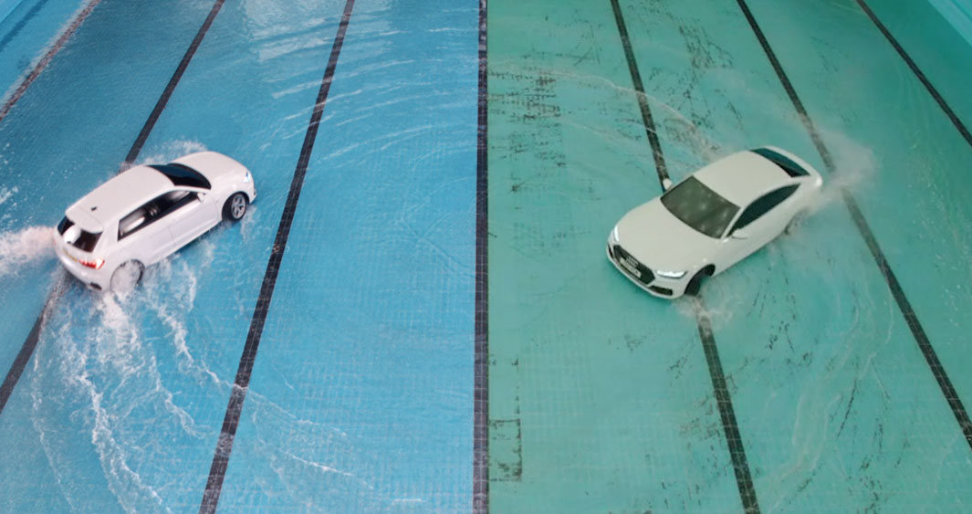 Audi 'Synchronised Swim' from above