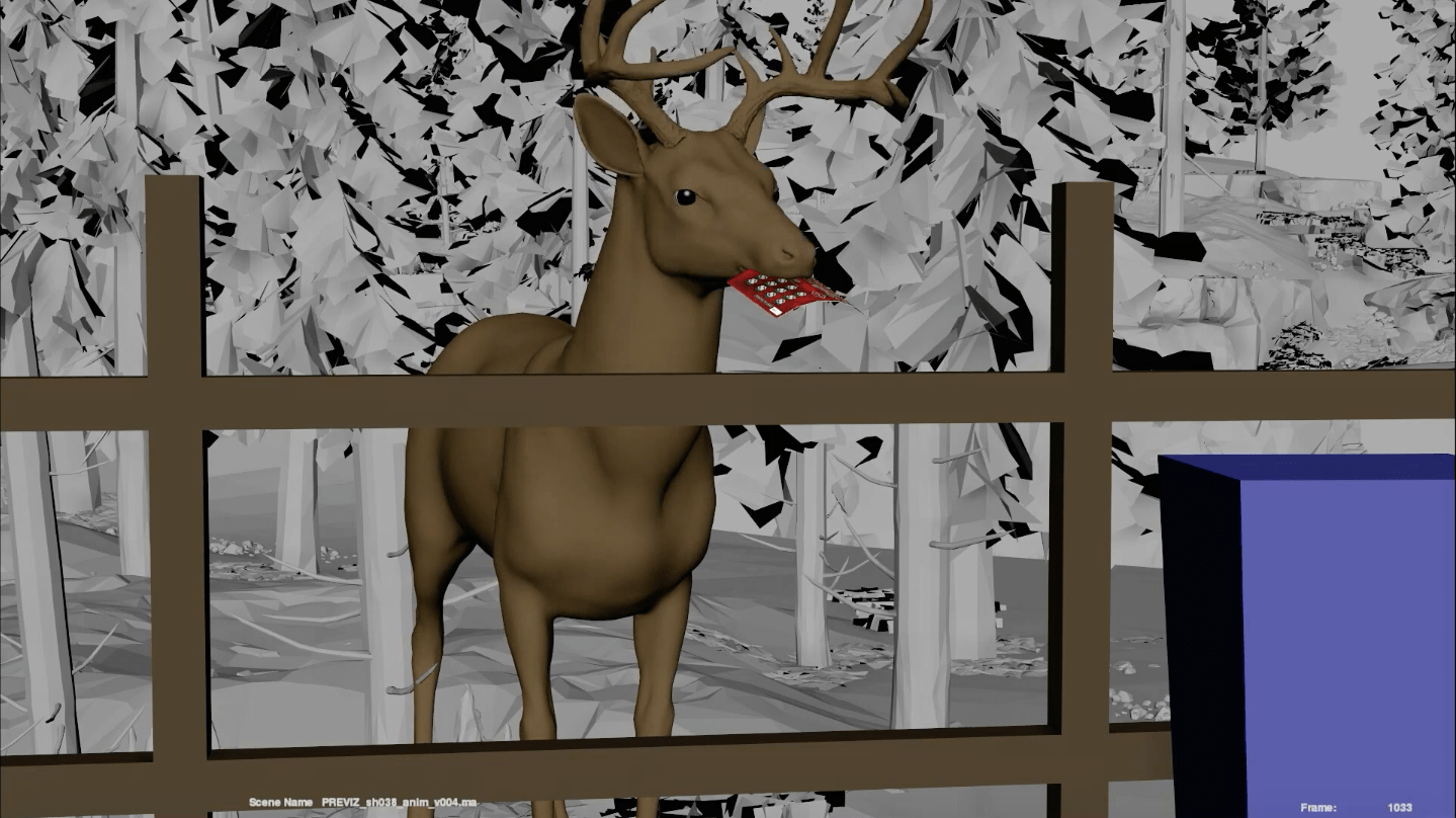 CGI Deer with lottery ticket for New York Lottery TV Advert Animal Animation