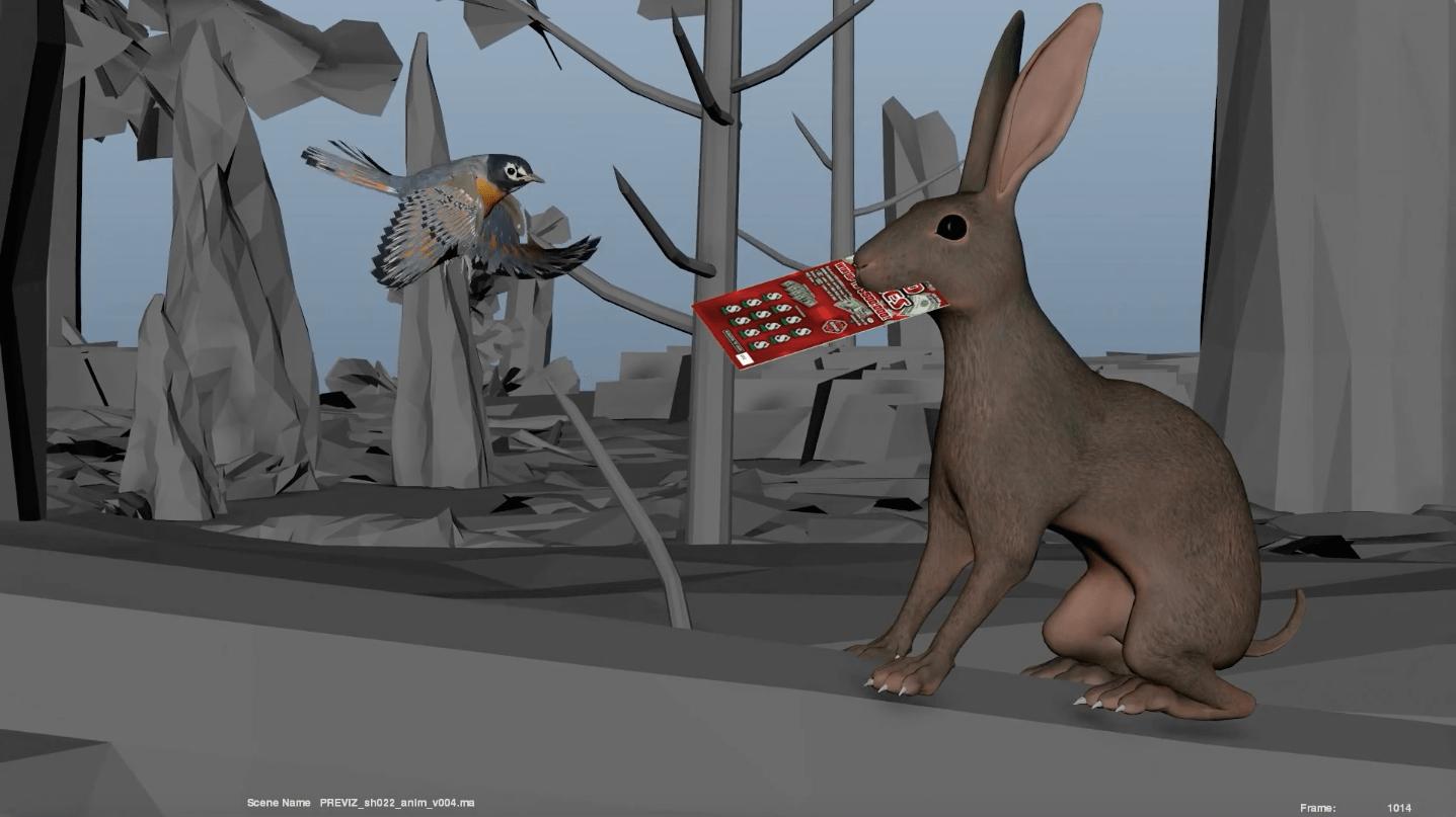 VFX Rabbit, bird and forest